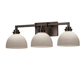 Portfolio  Light Oil Rubbed Bronze Bathroom Vanity Light