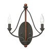 Kichler Lighting Carlotta 9.25-in W 2-Light Distressed and Wood Candle Deals