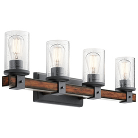 d476abd83c Display product reviews for Barrington 4-Light 29.5-in Distressed black and  wood Cylinder