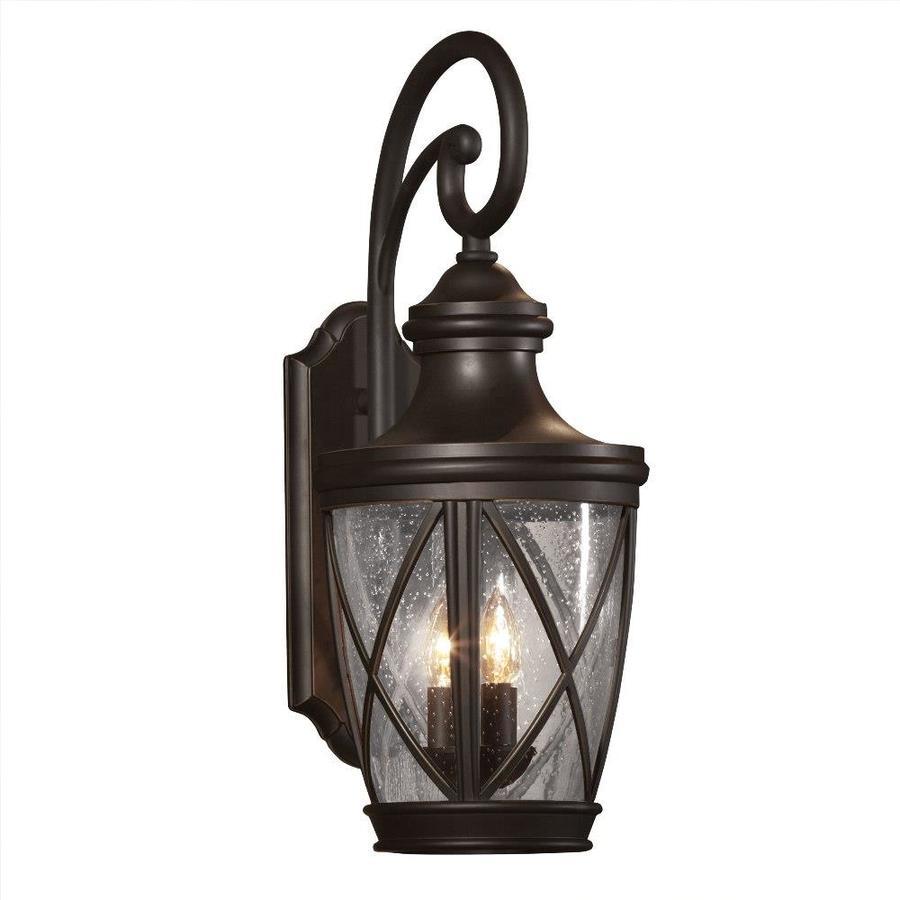 Lowe S Security Lights Outdoor: Shop Allen + Roth Castine 23.75-in H Rubbed Bronze Outdoor
