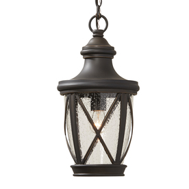 Shop pendant lighting at lowes display product reviews for castine 1693 in rubbed bronze outdoor pendant light aloadofball Choice Image