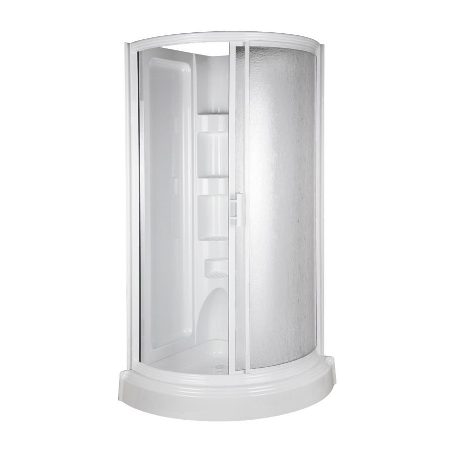 Shop Aqua Glass 78-in H x 37-3/4-in W x 37-3/4-in L High ...