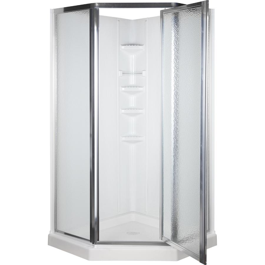 Shop Aqua Glass 74-1/4-in H x 38-in W x 38-in L High Gloss ...