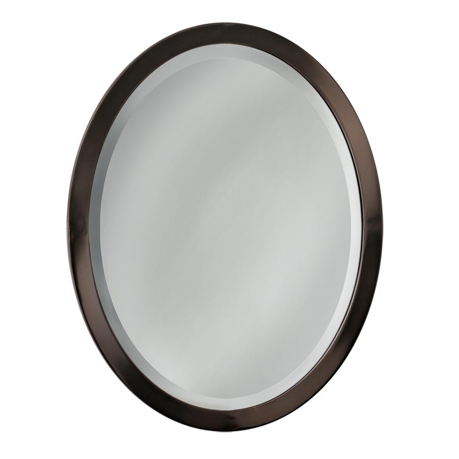 Oiled Bronze Bathroom Mirror: Shop Allen + Roth 29-in H X 23-in W Oil-Rubbed Bronze Oval