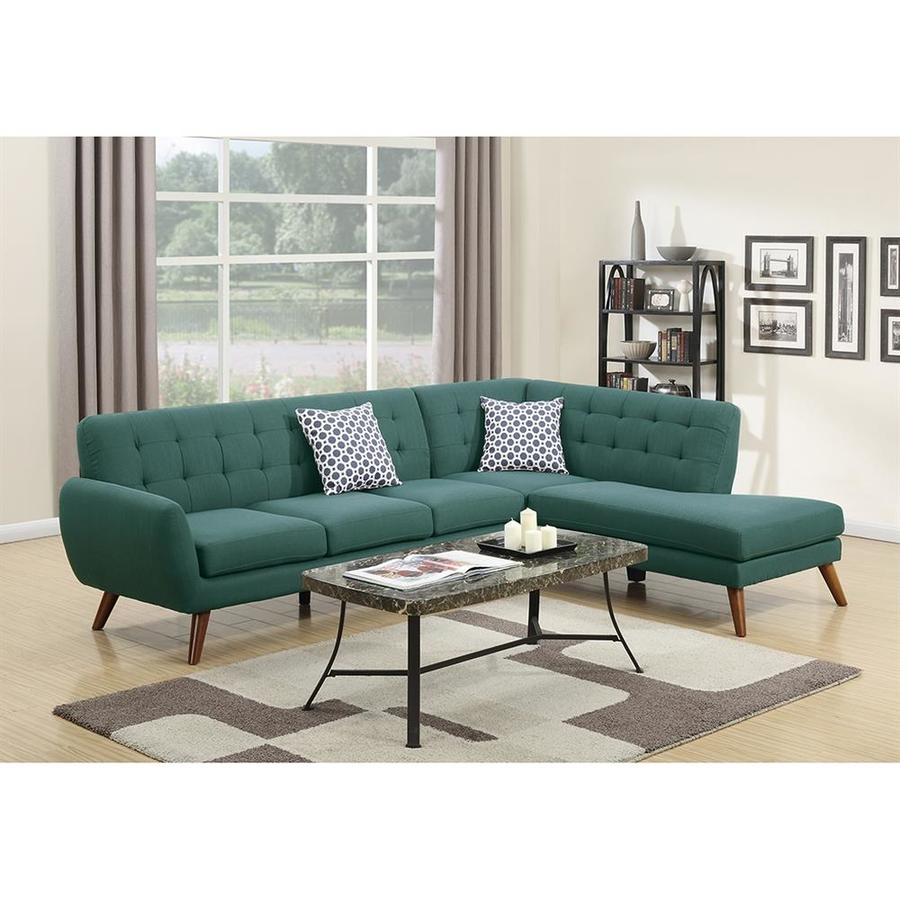 Poundex Belinda Midcentury Laguna Sectional In The Couches Sofas Loveseats Department At Lowes Com