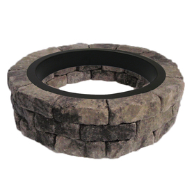 Shop Allen Roth Gray Charcoal Flagstone Fire Pit Patio