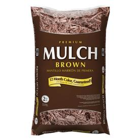 Premium 2 cu ft Dark Brown Hardwood Mulch