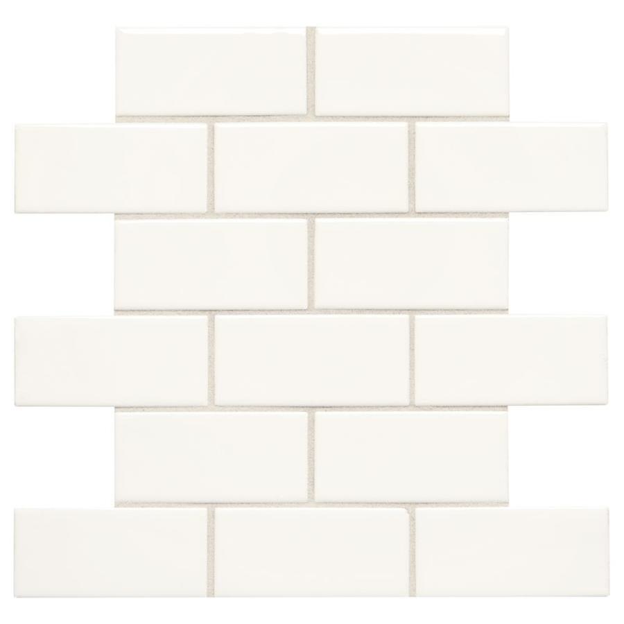 Shop American Olean Starting Line White Gloss Ceramic