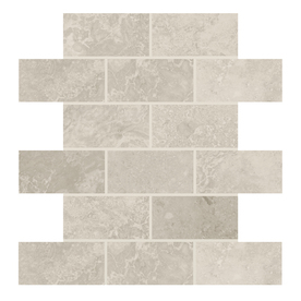 Display Product Reviews For Elara Ashen Tan Brick Mosaic Ceramic Subway Tile Common 12