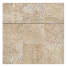 American Olean Laurel Heights 8-Pack Elevated Beige Porcelain Floor and Wall Tile (Common: 18-in x 18-in; Actual: 17.81-in x 17.81-in) LH961818P1P6