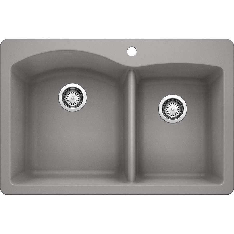 Lowes Kitchen Sink: Shop BLANCO Diamond Double-Basin Drop-In Or Undermount