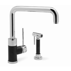 Blanco blancochelsea chrome 1 handle high arc kitchen - Mico designs seashore kitchen faucet ...