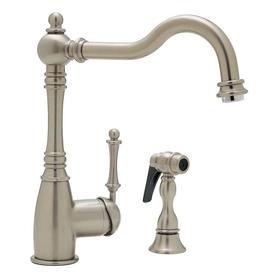 Blanco blancograce satin nickel 1 handle high arc sink - Mico designs seashore kitchen faucet ...