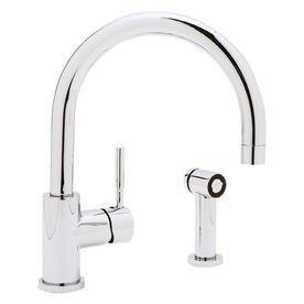 Blanco blancomeridian chrome 1 handle high arc kitchen - Mico designs seashore kitchen faucet ...