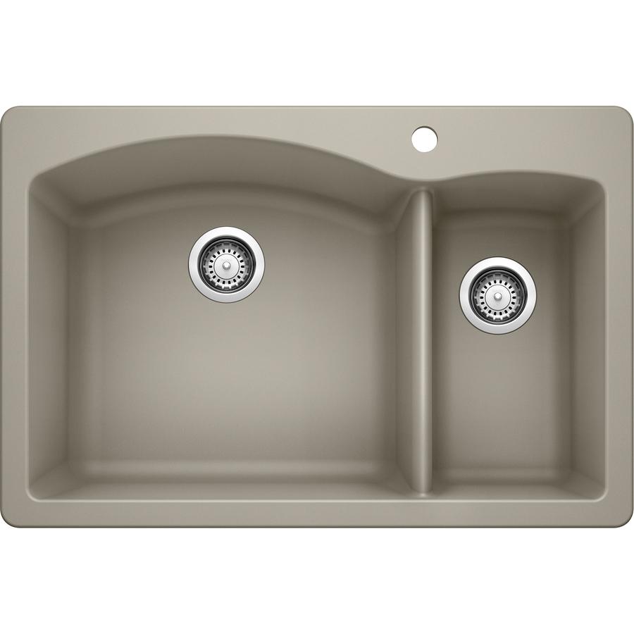 Blanco Kitchen Sinks: Shop BLANCO Diamond 22-in X 33-in Truffle 2 Granite Drop