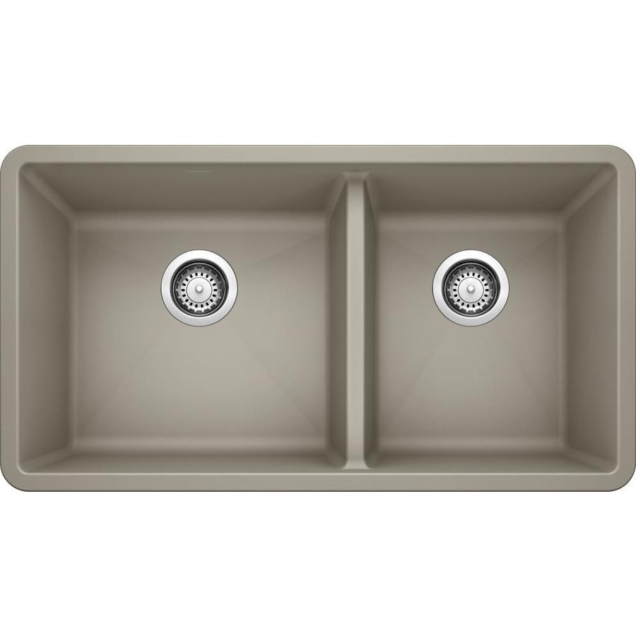 Shop Blanco Precis Double Basin Undermount Granite Kitchen