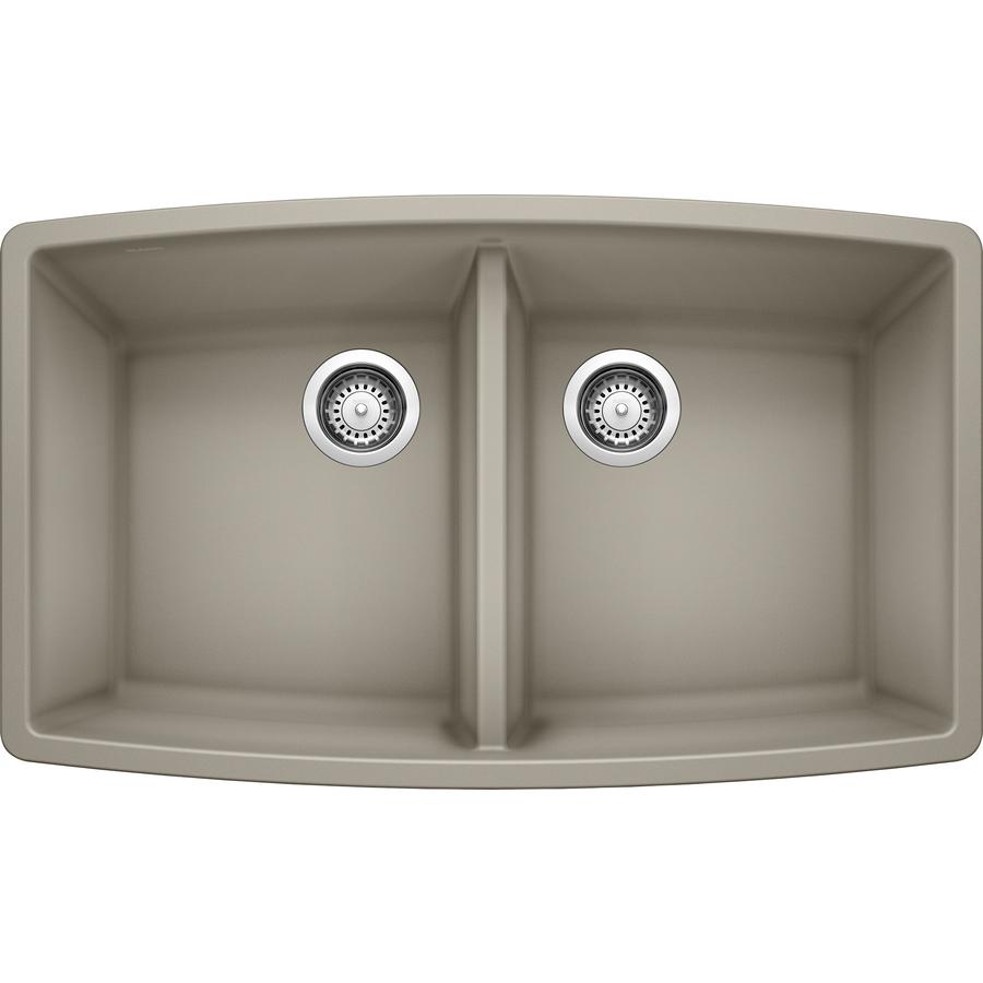 Shop Blanco Performa Truffle Double Basin Undermount