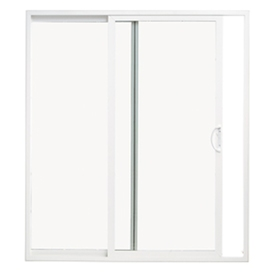 Shop patio doors at lowes display product reviews for 715 in x 795 in clear glass universal reversible white planetlyrics Choice Image