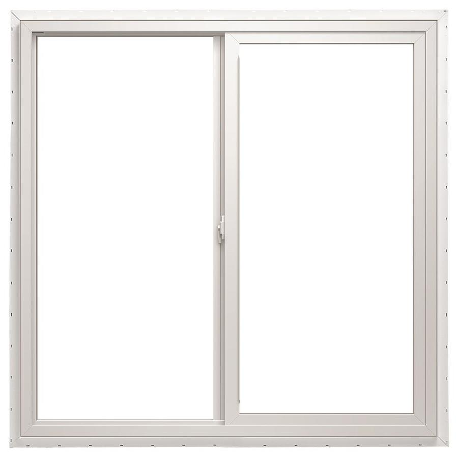 ThermaStar by Pella Left-Operable Vinyl New Construction White Exterior Sliding Window (Rough Opening: 36-in x 48-in; Actual: 35.5-in x 47.5-in)