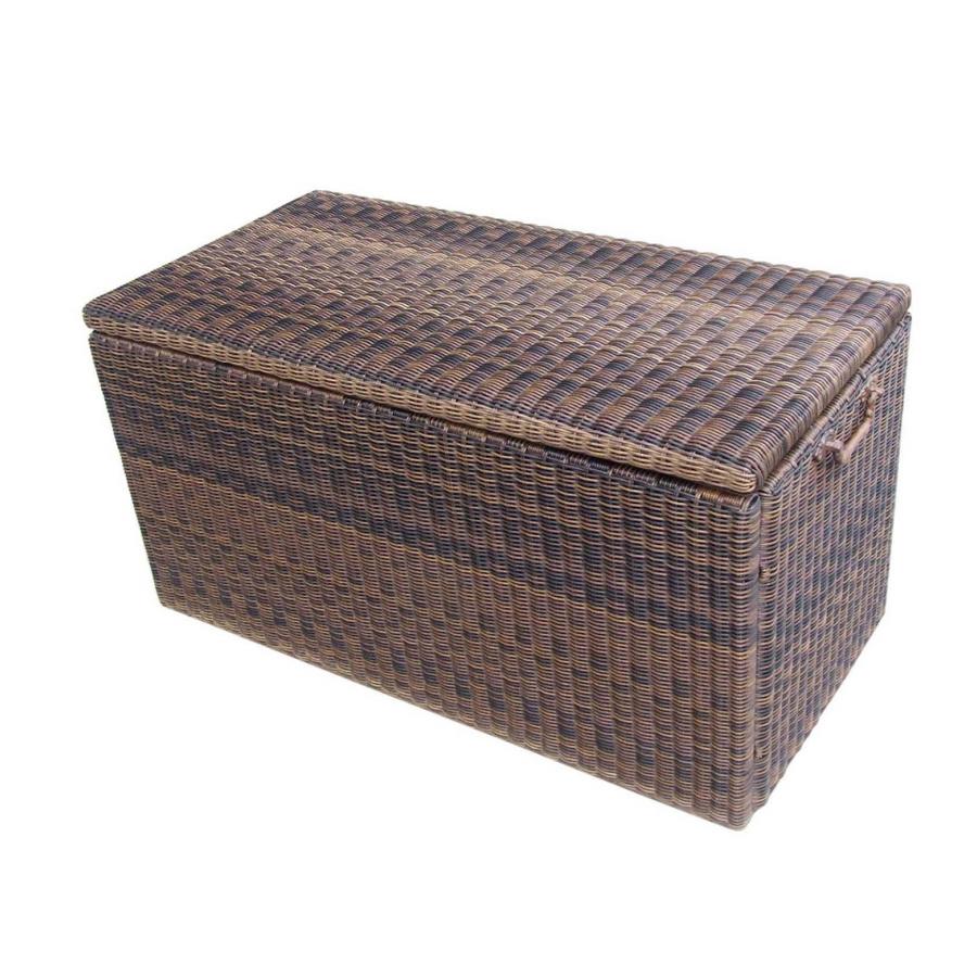 Shop Garden Treasures Wicker Deck Storage Box At Lowes Com