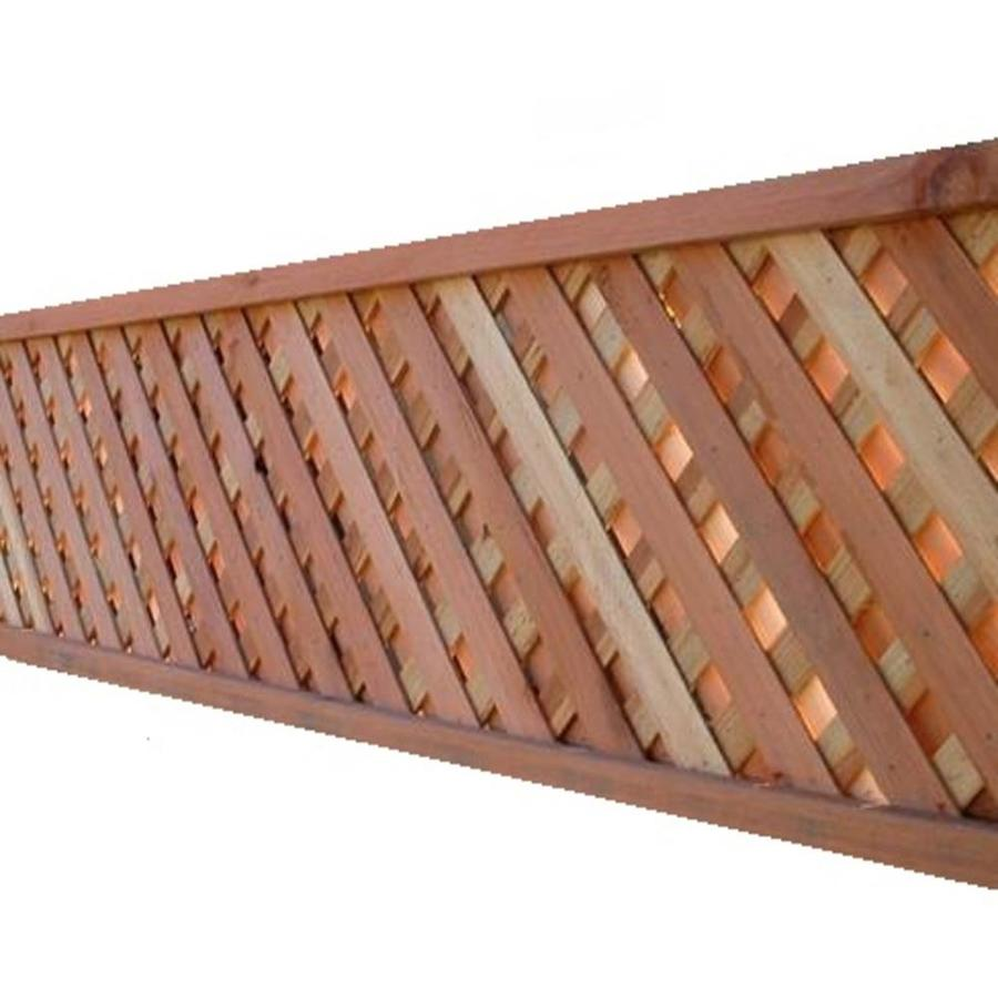 Shop Redwood Privacy Wood Lattice (Common: 2.5-in x 2-ft x