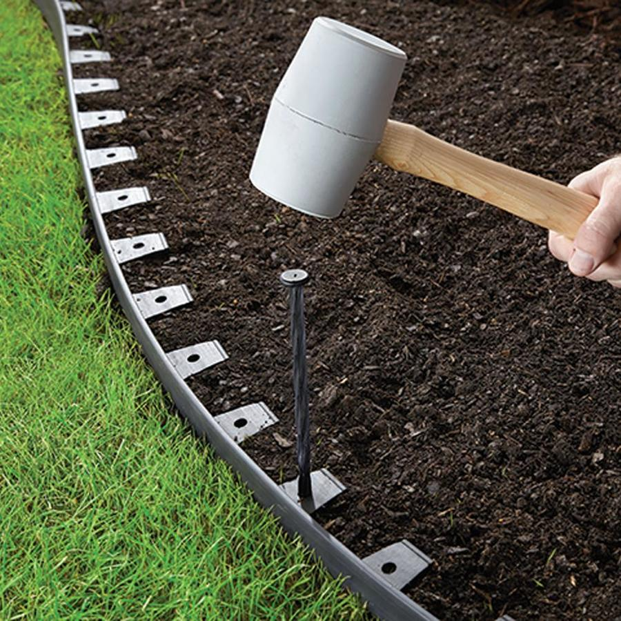 Easyflex 20 Ft Black Plastic Landscape Edging Roll In The Landscape Edging Department At Lowes Com