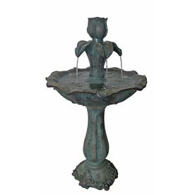 Shop Garden Treasures 36 22 In Fiberglass Tiered Fountain