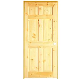 Shop reliabilt 6 panel solid core no skin knotty pine - 6 panel pine interior prehung doors ...