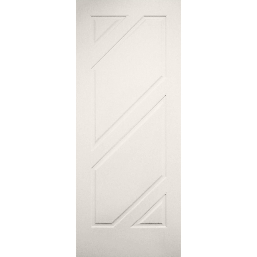 Millennium Collection Encore 32-in x 80-in Primed 4 Panel Square Solid Core MDF Slab Door in Off-White | LO965252