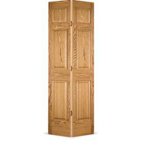 ReliaBilt 30-in x 80-in 6-Panel Solid Wood Interior Bifold Closet Door 80116