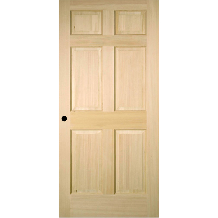 Shop reliabilt 6 panel solid core no skin fir right hand - Single panel prehung interior doors ...