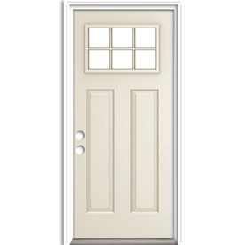 Beau Display Product Reviews For Craftsman Clear Glass Right Hand Inswing Primed  Steel Prehung Entry Door