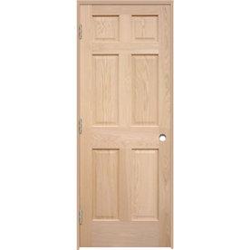 Brilliant Shop Reliabilt Prehung 6 Panel Oak Interior Door Common 32 In X 80 In Actual 33 5 In X 81 25 Door Handles Collection Olytizonderlifede