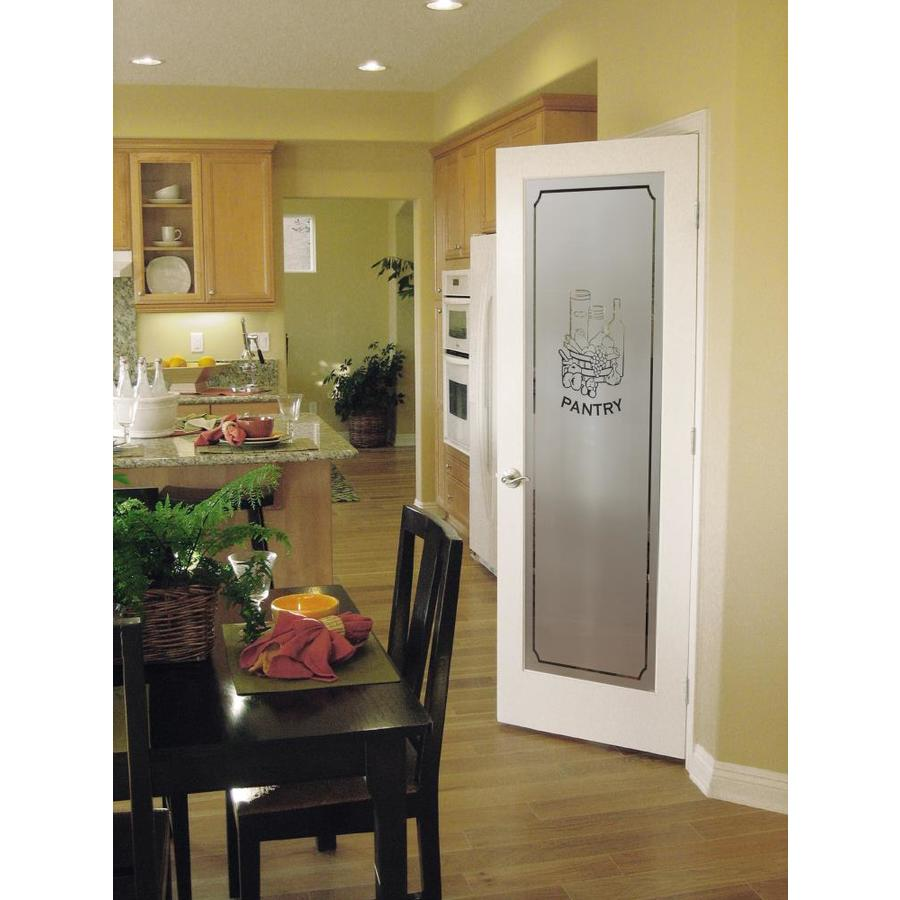 Reliabilt 24 In X 80 In White Flush Frosted Glass Primed Wood Slab Door In The Slab Doors Department At Lowes Com