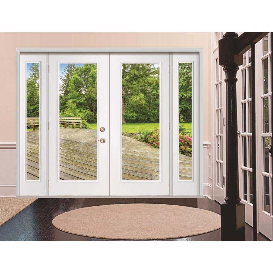 Reliabilt Steel Patio Door 96 In X 80 In Clear Glass Steel Left Hand Inswing Double Doors French Patio Door With Screen In The Patio Doors Department At Lowes Com Our front doors provide a beautiful and sturdy entrance for your home. lowe s