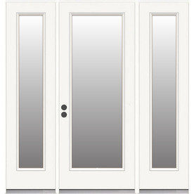 Display Product Reviews For Steel Patio Door White Primed Steel French Patio  Door With Insulating Core