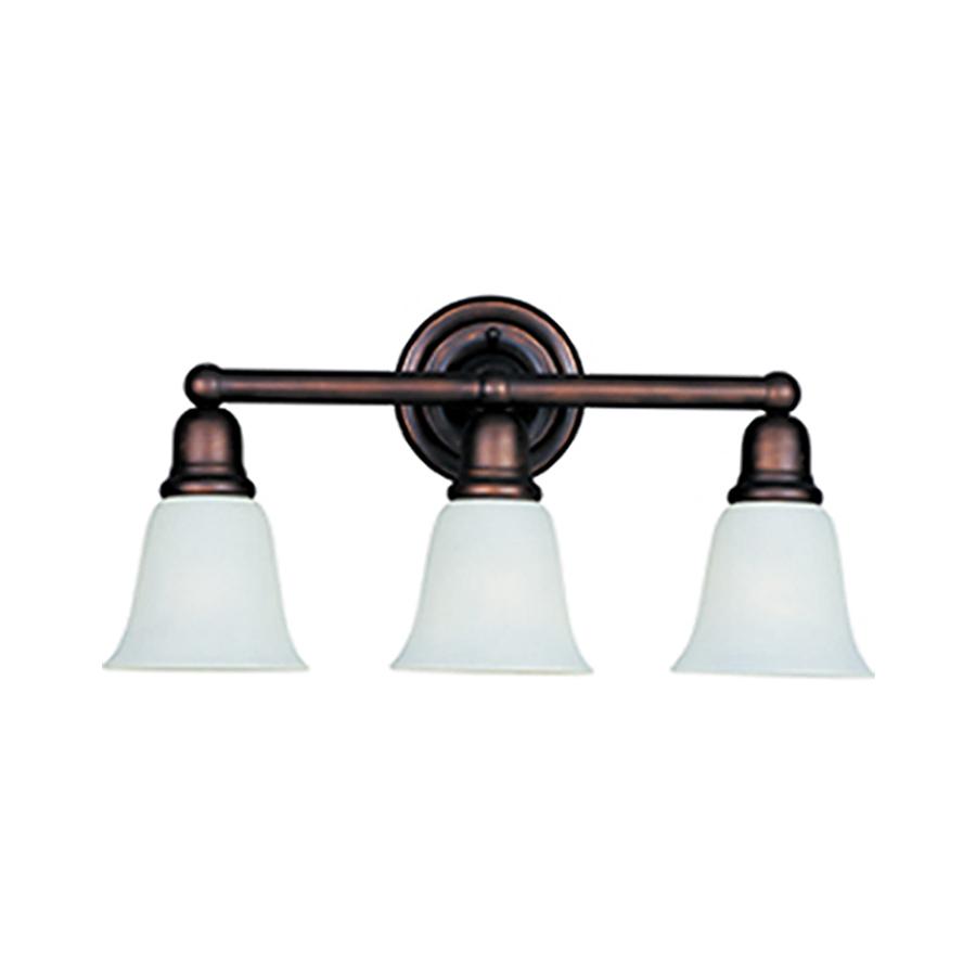 Shop pyramid creations 3 light bel air oil rubbed bronze - Bathroom lighting oil rubbed bronze ...