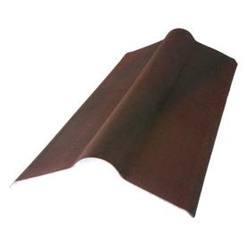 Roof Shingles: Onduvilla Roofing Supplies 2-23/24 ft. x 19.5 in. Siena Brown Composite Standard Ridge Cap PS548