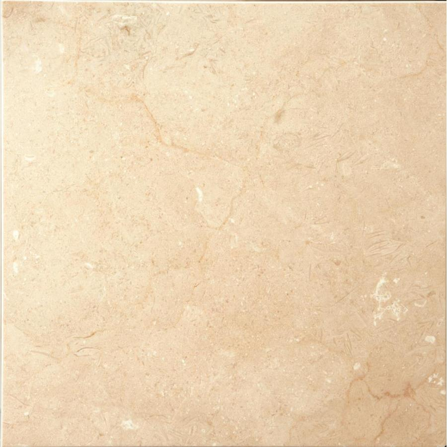 Emser Crema Marfil Plus 18-in x 18-in Honed Natural Stone Marble Stone Look Floor and Wall Tile | M05CREMMA1818H -  Emser Tile