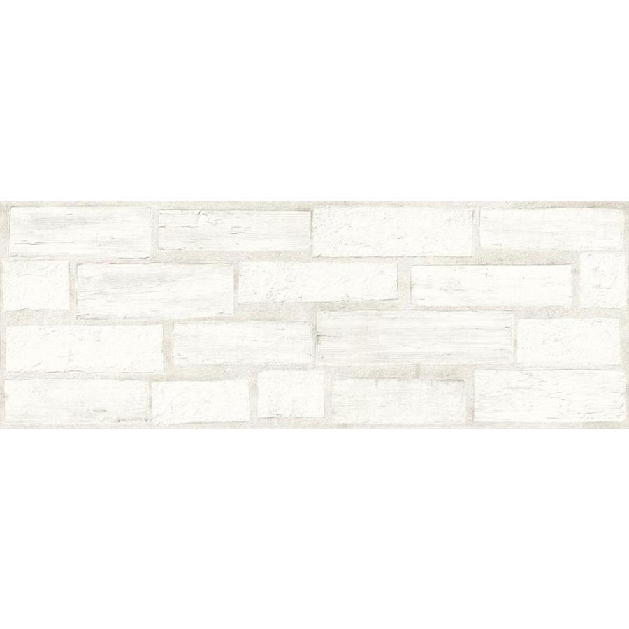 Emser Agenda 2-Pack Stamp 24-in x 48-in Glazed Ceramic Brick Look Wall Tile | W86AGENSWH1747 -  Emser Tile