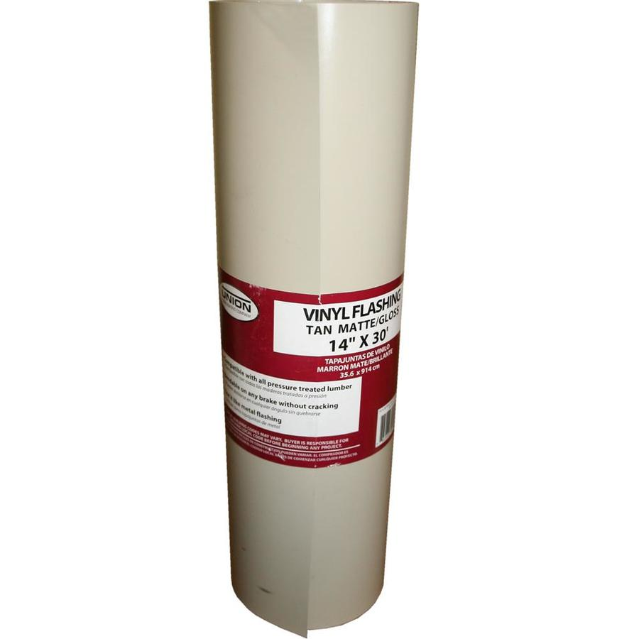 Shop Union Corrugating 4 25 In X 14 Ft Vinyl Roll Flashing