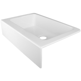 Shop Corstone Primrose Gloss White Single Basin Acrylic