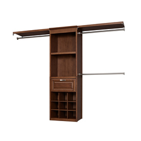 Shop Allen Roth 8 Ft Sable Wood Closet Kit At Lowes Com