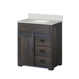Display Product Reviews For Morriston Distressed Java Vanity With White  Engineered Stone Top (Common: