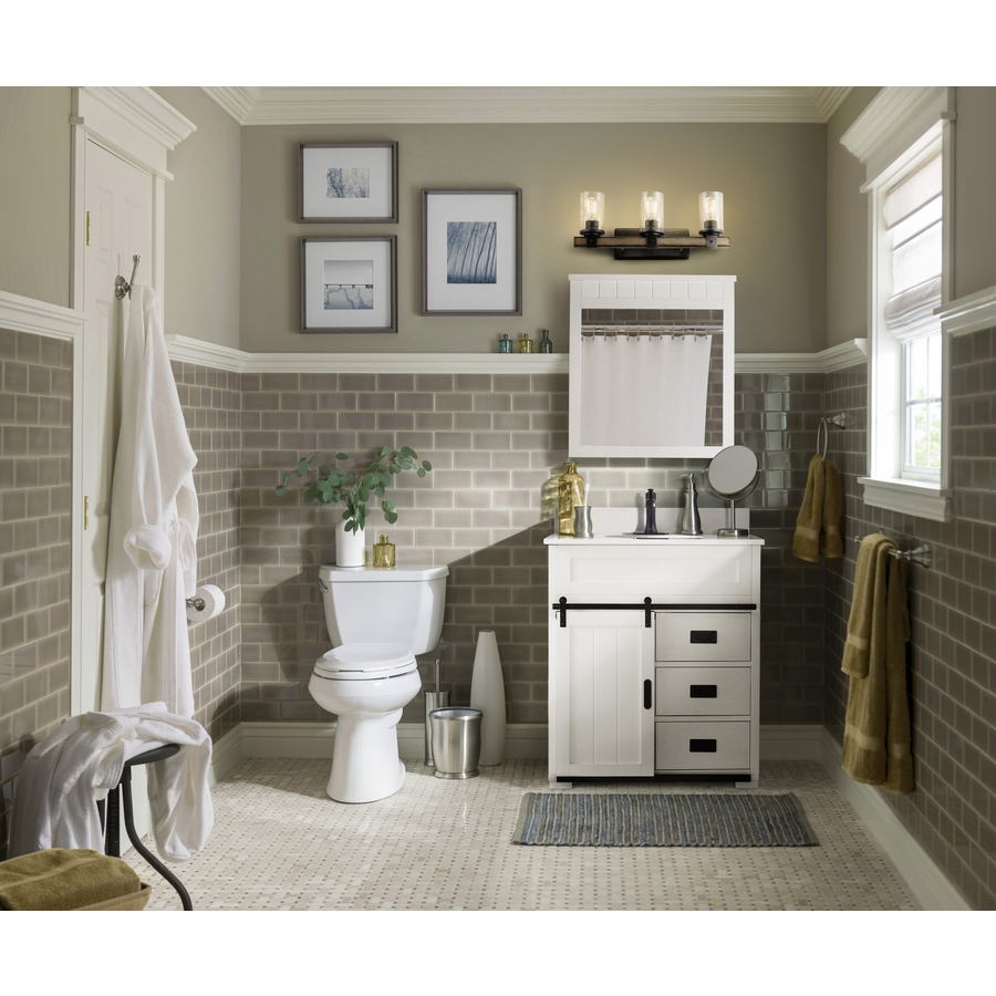 Style Selections Morriston 30 In White Undermount Single Sink Bathroom Vanity With White Engineered Stone Top In The Bathroom Vanities With Tops Department At Lowes Com