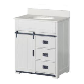 Display product reviews for Morriston 30-in White Single Sink Bathroom Vanity with White Engineered