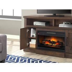 Whalen 54 In W Madison Snow Ash Infrared Quartz Electric Fireplace In The Electric Fireplaces Department At Lowes Com