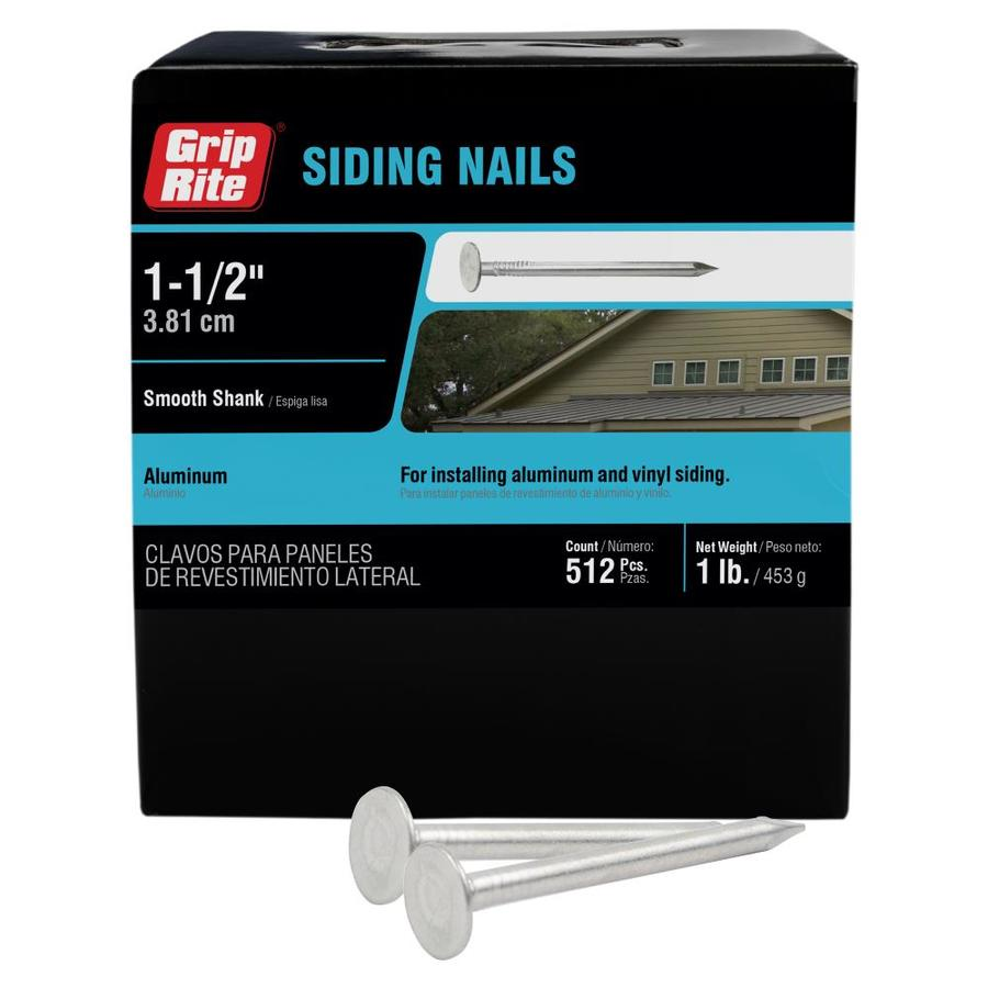 Grip Rite 12 Gauge Aluminum Siding Nails 1 Lb In The Siding Nails Department At Lowes Com