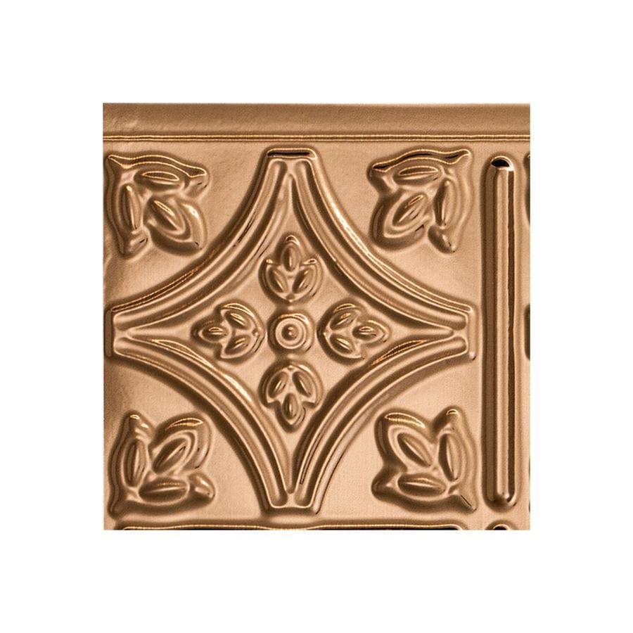 - Fasade Traditional 1 18.5-in X 24.5-in Polished Copper Backsplash