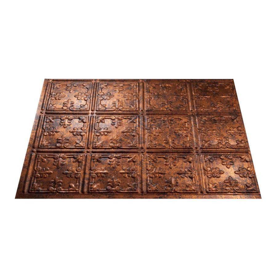 Backsplash Lowes: Shop Fasade 18.5-in X 24.5-in Moonstone Copper